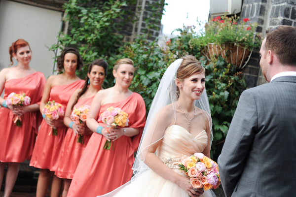 rooftop wedding ceremony Rustic Chic Wedding in Uptown New York