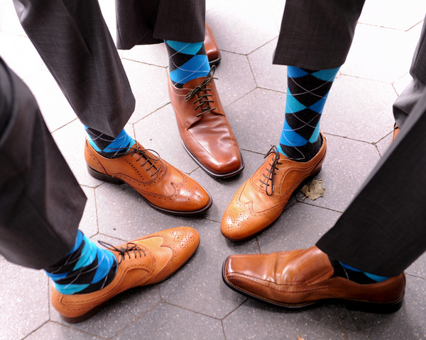 rustic chic groomsmen socks Rustic Chic Wedding in Uptown New York