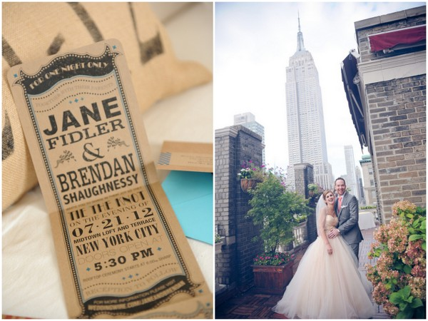 rustic chic wedidng invitations Rustic Chic Wedding in Uptown New York