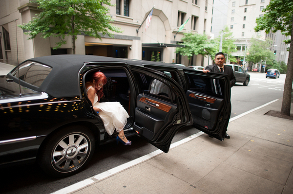 Bride Arriving in Limousine | Love Wed Bliss