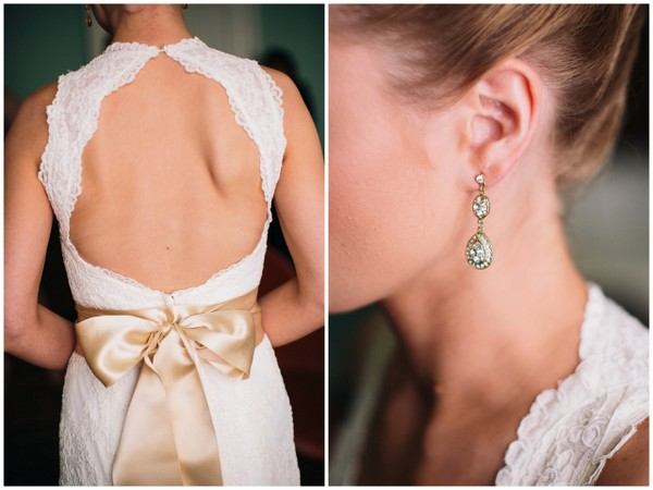 Bridal Gown Gold and White Wedding