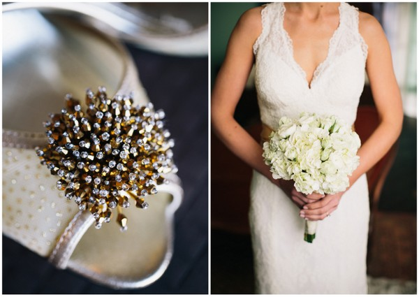 Gold Sparkly Wedding Shoes