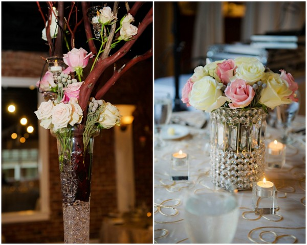 Blush and Ivory Centerpieces