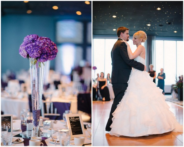 Elegant Purple Silver & White Wedding