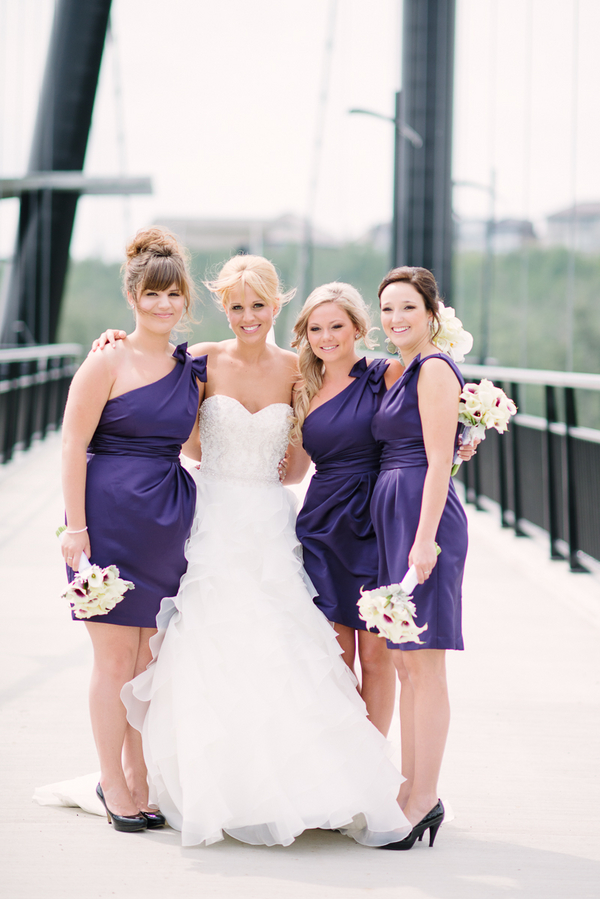 Purple and White Wedding Alberta