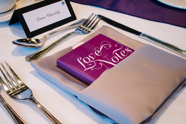 Purple & Silver Place Setting Ideas