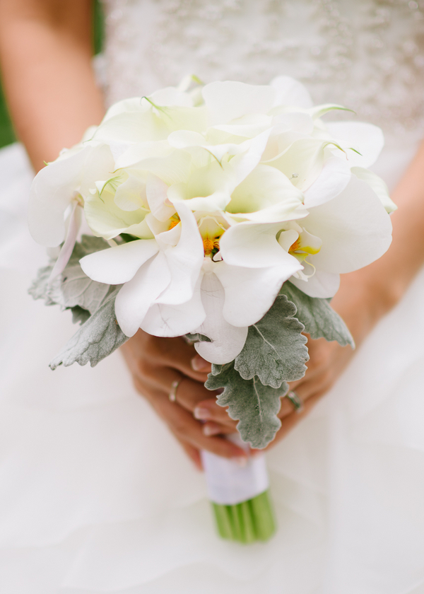 White Lillies Bridal Bouquet