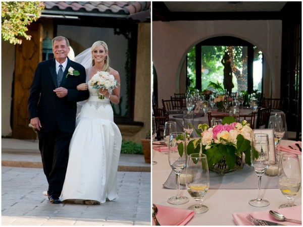 elegant pink and silver wedding Elegant Silver and Pink Wedding at Villa Parker