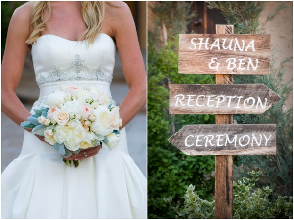 Elegant Silver & Pink Colorado Wedding