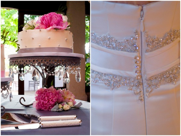 elegant silver pink wedding details Elegant Silver and Pink Wedding at Villa Parker