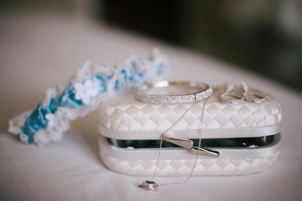 blue white elegant bridal accessories Half Moon Bay Golf Links Wedding from Portrait Design by Shanti