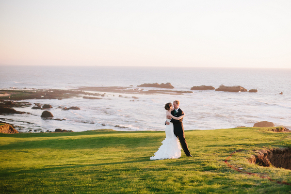 half moon bay california wedding Half Moon Bay Golf Links Wedding from Portrait Design by Shanti