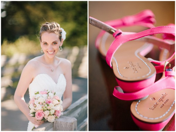 pink kate spade sandals california wedding Half Moon Bay Golf Links Wedding from Portrait Design by Shanti