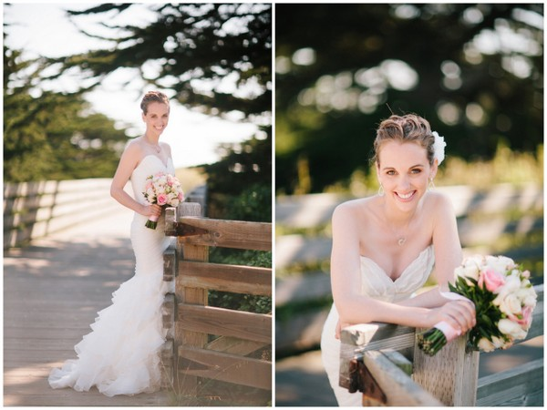 pink white wedding california half moon bay Half Moon Bay Golf Links Wedding from Portrait Design by Shanti