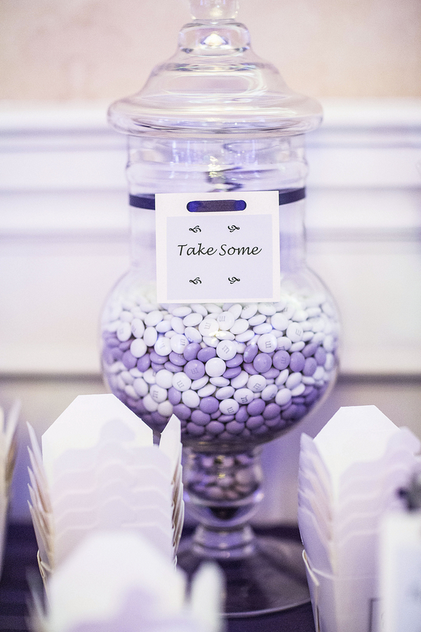 Purple And White Candy Buffet Ideas