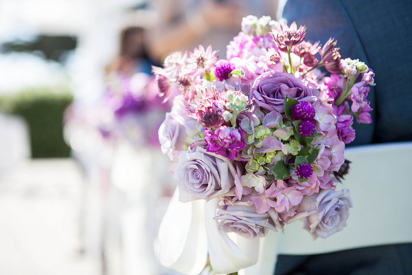 Purple And White Wedding Flowers Decorations