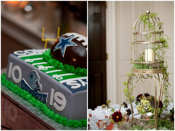 cowboys grooms cake 17 Magenta Wedding Theme by Visual Appeal Studios