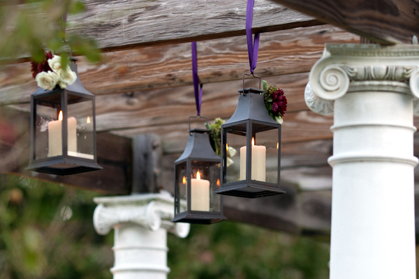 hanging lanterns traditional outdoor wedding 10 Magenta Wedding Theme by Visual Appeal Studios