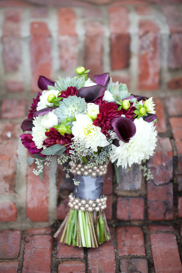 magenta purple white wedding bouquet 4 Magenta Wedding Theme by Visual Appeal Studios