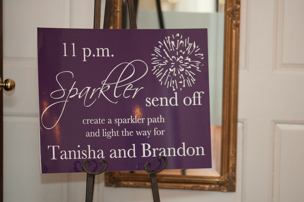 sparkler send off sign 20 Magenta Wedding Theme by Visual Appeal Studios
