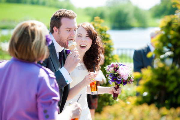 Icecream at Cheshire UK Wedding | Love Wed Bliss