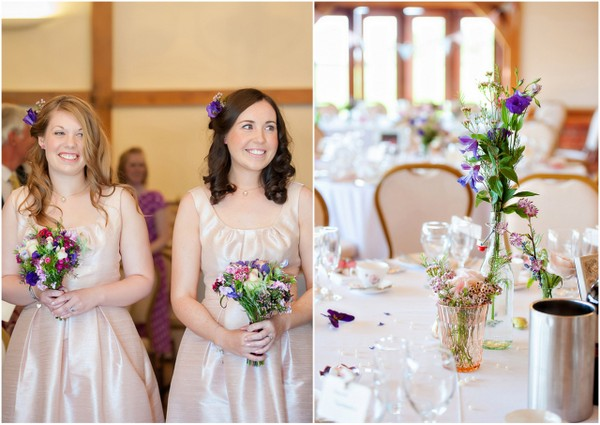 Pretty Bridesmaids at Cheshire Wedding UK | Love Wed Bliss