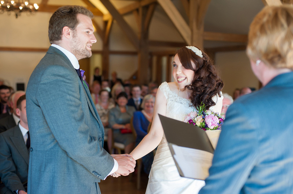 Sandhole Oak Barn Wedding Ceremony | Love Wed Bliss