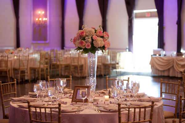 ballroom wedding reception Sophisticated Plum Wedding by Kamila Harris Photography
