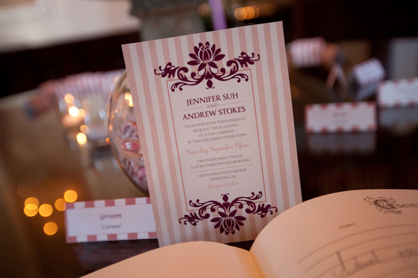 plum wedding invitations Sophisticated Plum Wedding by Kamila Harris Photography