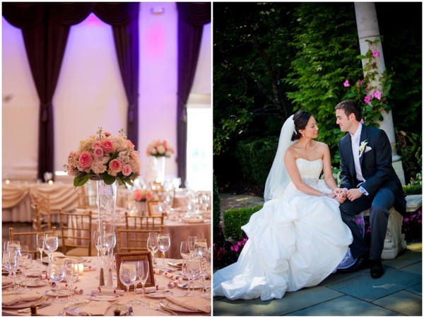 plum wedding reception Sophisticated Plum Wedding by Kamila Harris Photography