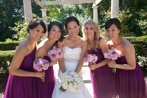pretty plum bridemaids Sophisticated Plum Wedding by Kamila Harris Photography
