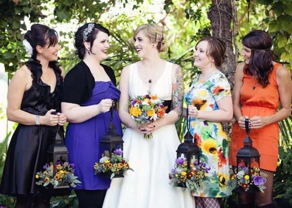 Bridesmaids Halloween Wedding | Love Wed Bliss