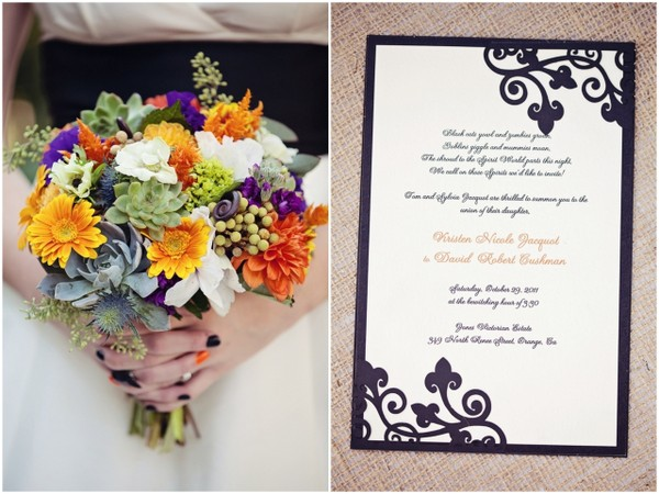 Halloween Themed Wedding Bouquet | Love Wed Bliss