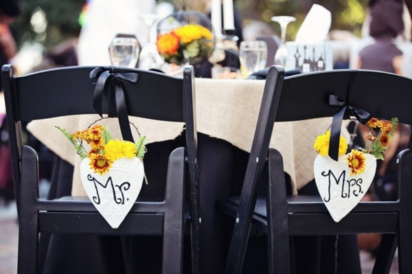 Halloween Wedding Seat Signs | Love Wed Bliss