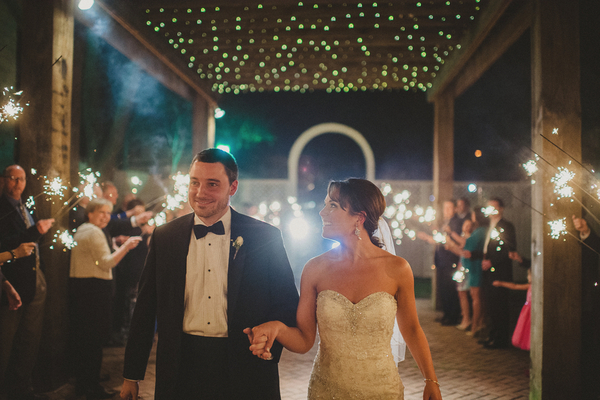 Fairylights at Vintage Wedding Reception