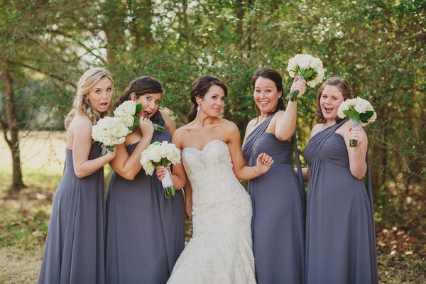 Lavender Bridesmaids at Vintage Wedding