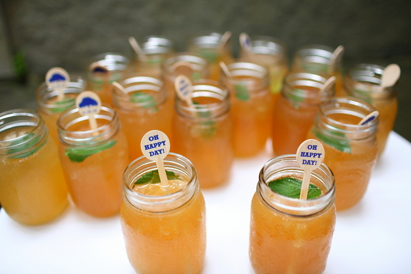 Mason Jar Cocktails at Wedding