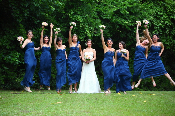 Navy Blue & Pastel Pink Wedding