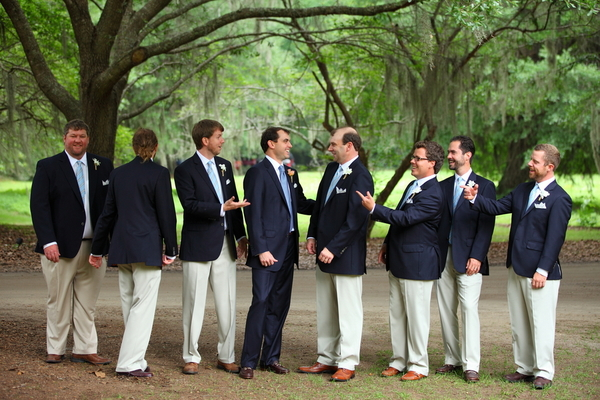 Navy Blue & White Groomsmen
