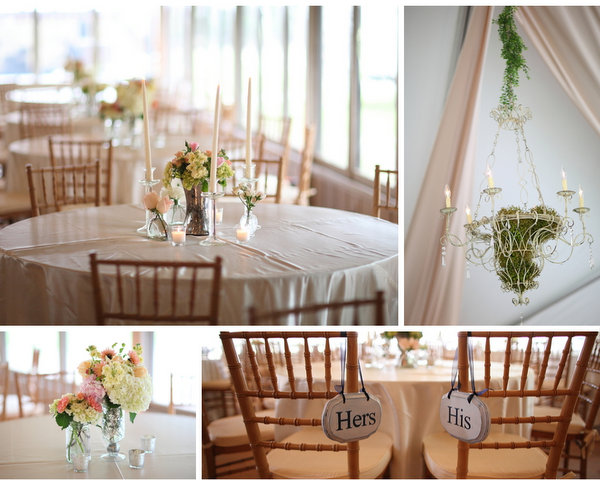 Pastel Pink & Navy Wedding Reception
