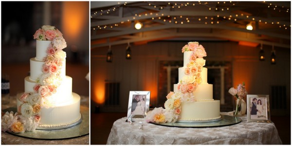 pastel pink wedding cake Navy Blue and Pastel Pink Wedding by Studio 1250