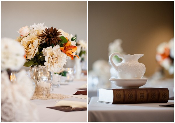 fall vintage chic wedding ideas Vintage Chic Fall Wedding by J+A Photography