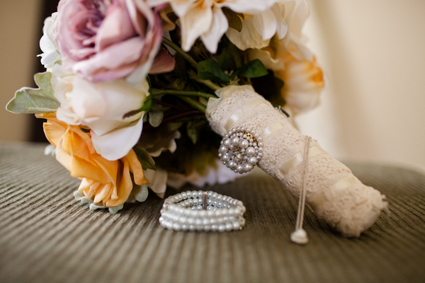 vintage chic fall wedding bouquet Vintage Chic Fall Wedding by J+A Photography