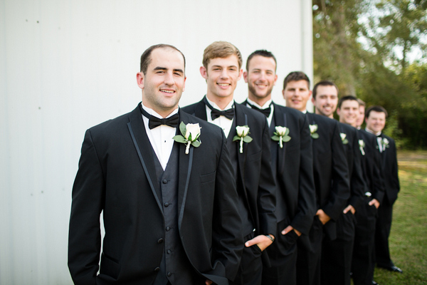 vintage chic groomsmen Vintage Chic Fall Wedding by J+A Photography