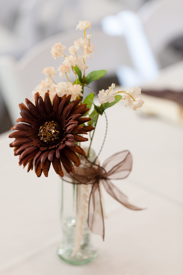 Vintage Chic Wedding Centerpiece
