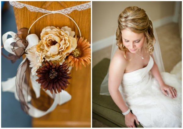 wedding colors vintage chic wedding Vintage Chic Fall Wedding by J+A Photography