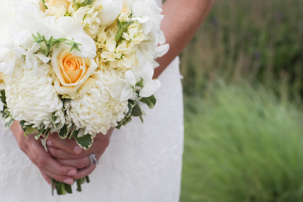 Yellow Gray + White Bouquet