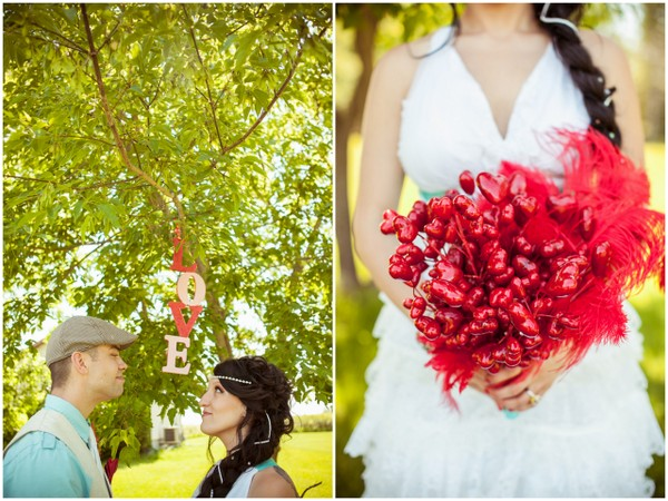 DIY Hearts & Feathers Bridal Bouquet