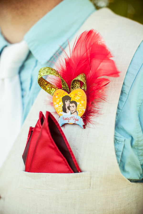 DIY Whimsical Feather Boutonniere | Love Wed Bliss