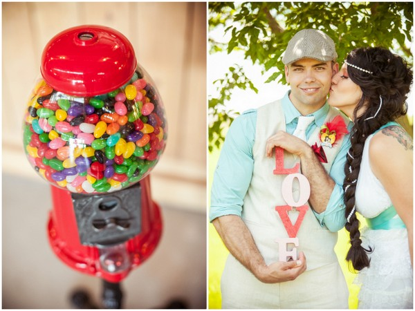 Gumball Machine at Whimsical Wedding | Love Wed Bliss
